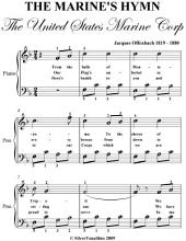 United States Marine Corps Hymn Easy Piano Sheet Music