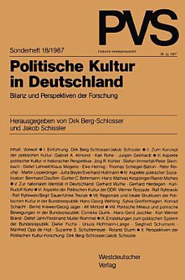Politische Kultur in Deutschland PDF