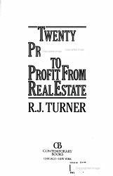 Twenty Proven Ways To Profit From Real Estate Book PDF