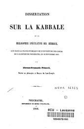 Dissertation sur la Kabbale, ou La philosophie spéculative des Hébreux