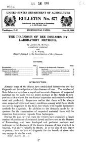 The Diagnosis of Bee Diseases by Laboratory Methods