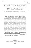 Napoleon s Bequest to Cantillon  A fragment of International History PDF