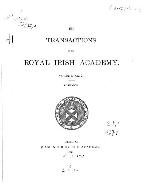The Transactions Of The Royal Irish Academy