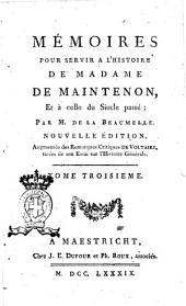 Memoires Pour Servir a L'Histoire de Madame de Maintenon