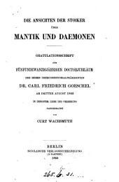 Mantik Und Daemonen