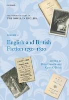 The Oxford History of the Novel in English PDF