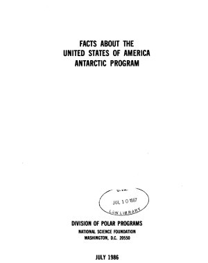 Facts about the United States of America Antarctic Program PDF