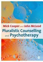 Pluralistic Counselling and Psychotherapy PDF