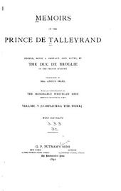 Memoirs of the Prince de Talleyrand: Volume 5