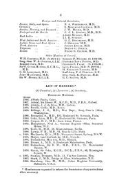Transactions of the Epidemiological Society of London ...: Volume 13