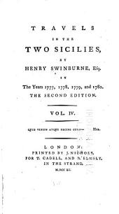 Travels in the Two Sicilies in the Years 1777, 1778, 1779, and 1780: Volume 4