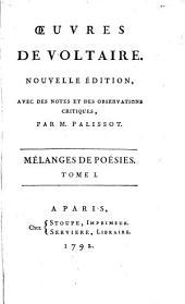 Œuvres de Voltaire: Mélanges de poésies