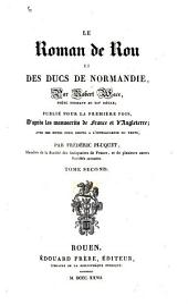 Le roman de Rou et des ducs de Normandie: Volume2