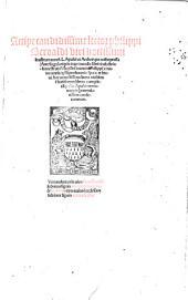 Philippi Beroaldi in Asinum aureum Lucii Apuleii commentaria