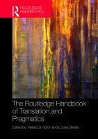 The Routledge Handbook of Translation and Pragmatics PDF