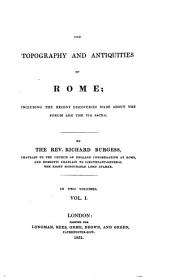 The topography and antiquities of Rome: Volume 1