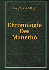 Chronologie Des Manetho