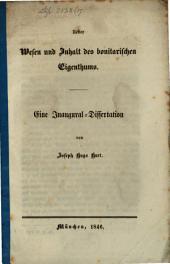 Ueber Wesen und Inhalt des bonitarischen Eigenthums