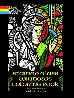 Stained Glass Windows Coloring Book