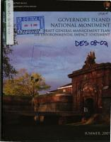 Governors Island National Monument  N M    General Management Plan PDF