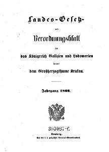 Verordnungen der Landesbeh  rden f  r das K  nigreich Galizien und die Bukowina PDF