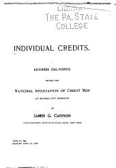 Individual credits: Address delivered before the National Association of Credit men, at Kansas City, Mo