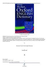 Pocket Oxford English Dictionary, Lapis Lazuli, 2002: Oxford Dictionary