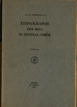 Ethnographie der belu in Zentral Timor