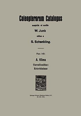 A  Klima Curculionidae  Erirrhininae
