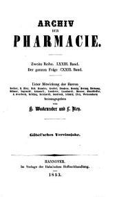 Archiv der Pharmazie: Bände 123-124