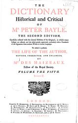 The Dictionary Historical and Critical of Mr  Peter Bayle PDF