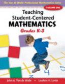 Teaching Student Centered Mathematics  Volume I Book