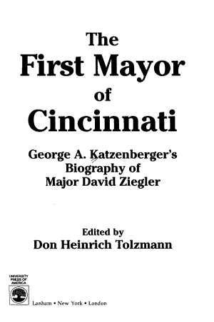The First Mayor of Cincinnati