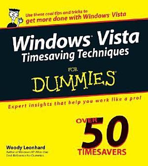 Windows Vista Timesaving Techniques For Dummies PDF