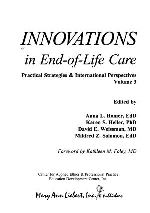 Innovations in End-of-life Care