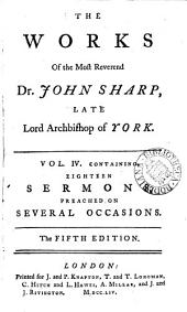 The works of...John Sharp...archbishop of York