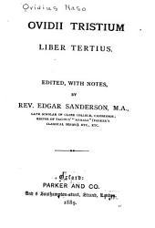 Ovidii Tristium liber tertius