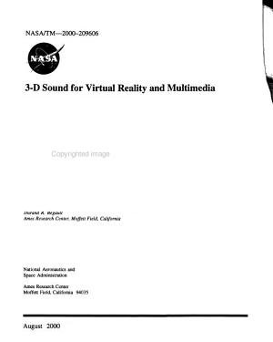 3 D Sound for Virtual Reality and Multimedia