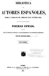Poemas epicos: Coleccion dispuesta y rev., con notas biograficas y una advertencia preliminar, Volumen 1;Volumen 17