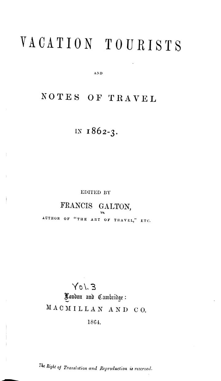 Vacation Tourists and Notes of Travel in 1860 [1861], [1862-3]