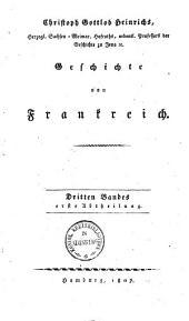 Geschichte von Frankreich: Bis 1802, Volume3,Numéro1