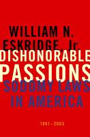 Dishonorable Passions PDF
