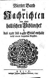 Seigmund Jakob Baumgartens Nachrichten von merkwurdigen buchern: Volume 4