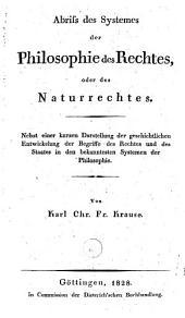 Abriss des Systemes der Philosophie des Rechtes, oder des Naturrechtes