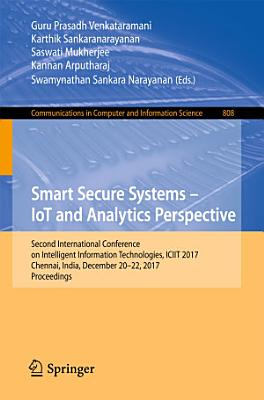 Smart Secure Systems – IoT and Analytics Perspective
