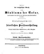 Jahresbericht über die Königliche Katholische Studien-Anstalt bei St. Stephan in Augsburg: im Studienjahre ... 1835/36