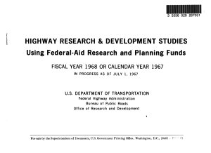 Highway Research and Development Studies Using Federal aid Research and Planning Funds PDF