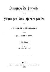 Stenographische Protokolle über die Sitzungen des Herrenhauses des Reichsrates: Ausgaben 43-94