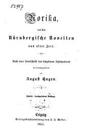 Norika: Das sind Nürnbergische Novellen aus alter Zeit. Nach einer Handschrift des sechzehnten Jahrhunderts