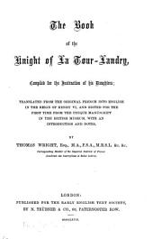 The Book of the Knight of La Tour-Landry: Compiled for the Instruction of His Daughters